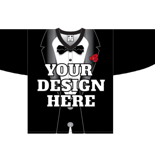 Custom *Black tuxedo hockey jersey | Design Your Own | No Min