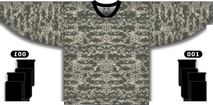 Custom Desert Camouflage hockey jersey CAM