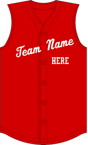 Sleeveless Baseball Jerseys | Customize with Logo, Player Name & Number
