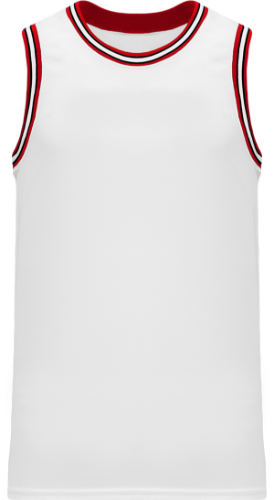 Custom   NBA Old School Retro Chicago Bulls - White.Red.Black( Throwback Vintage Basketball Jersey |  Design Yours - Fast Shipping