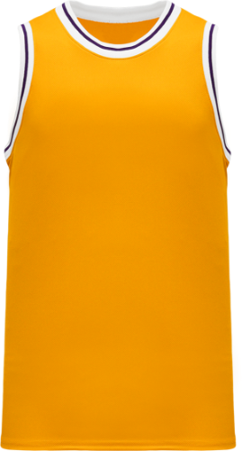 Lakers Gold NBA Throwback/Retro  Basketball Jerseys  | Customize with Logo, Player Name & Number