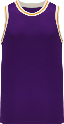 Custom NBA Old Lakers School Retro Throwback Vintage Basketball Jersey. Purple - White Gold | Design Your Own |