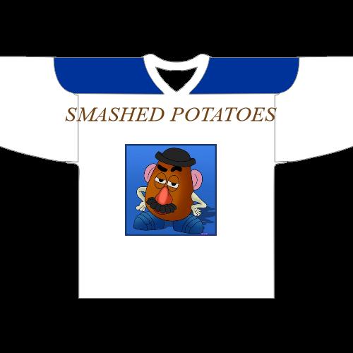 Smashed Potatoes Hockey  Jerseys