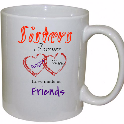 Personalized Sisters Coffee Mugs