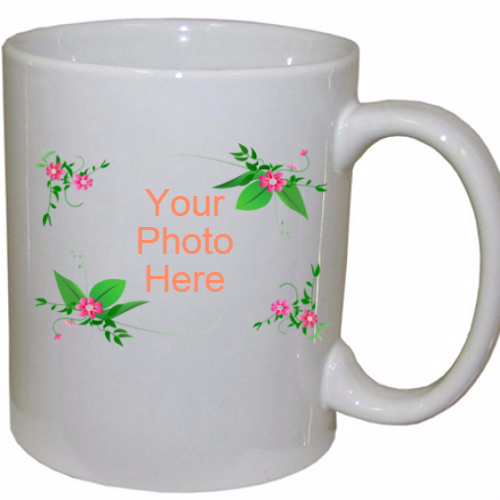 Personalized  Flower Coffee Mug