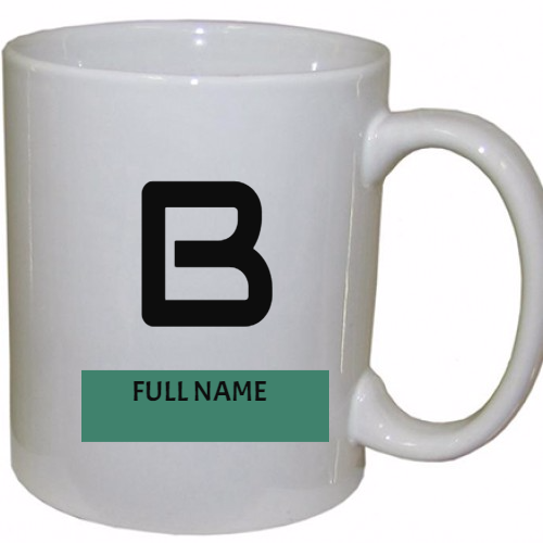 personalized  Initial Letter  Coffee Mug
