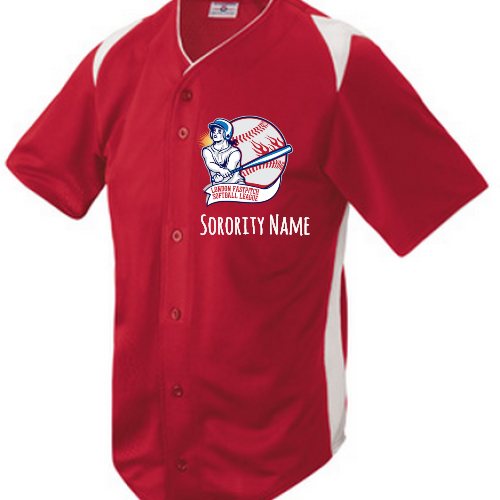 Greek full button baseball Jersey