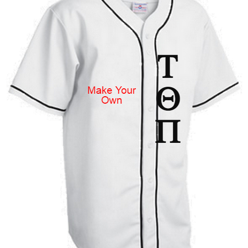 Greek Lettered Baseball Jerseys