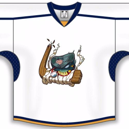 Puck eating stick hockey jerseys