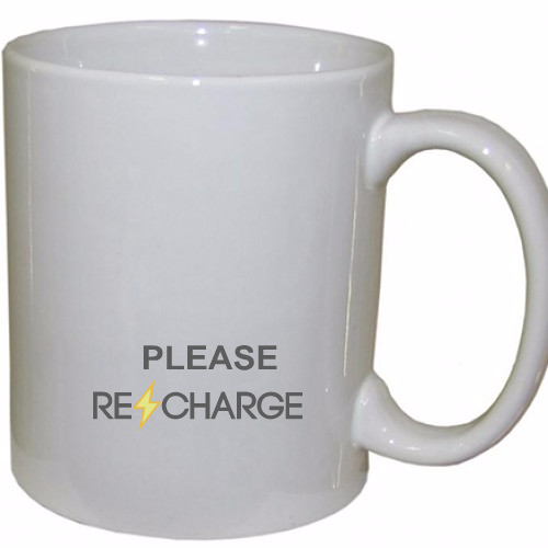 Please recharge Coffee Mug