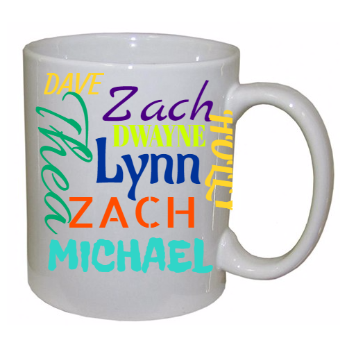 Name Collage Mug