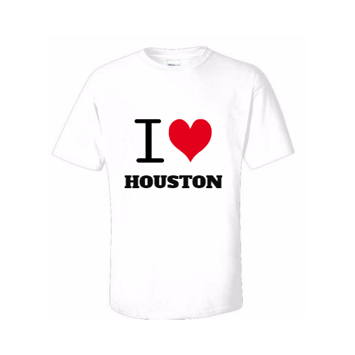 Custom I love Houston Tshirt