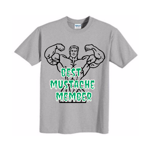 custom best mustache member shirts