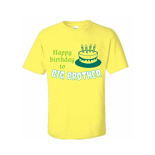 custom Big Brother birthday t-shirts