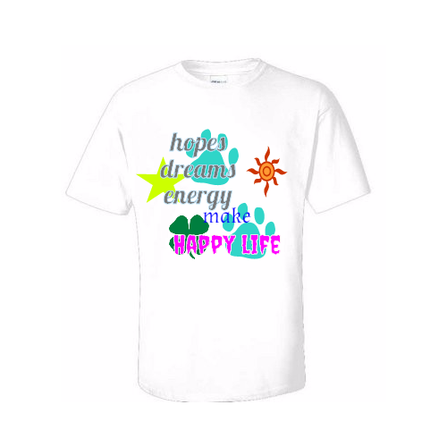 custom happy life t-shirts