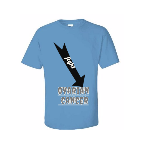 custom fight Ovarian Cancer T-shirts
