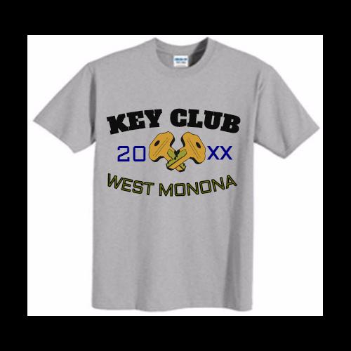 Custom Key club t-shirts