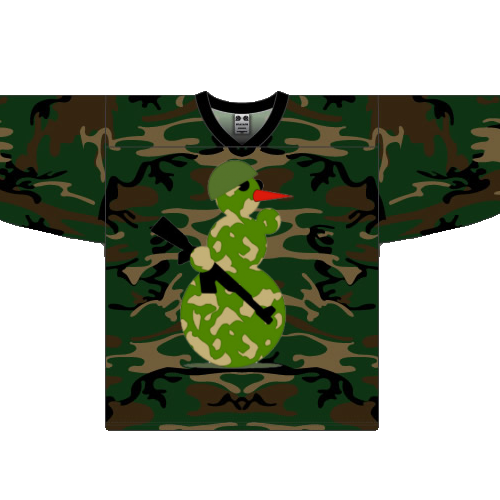 Militray Christmas Hockey Jerseys