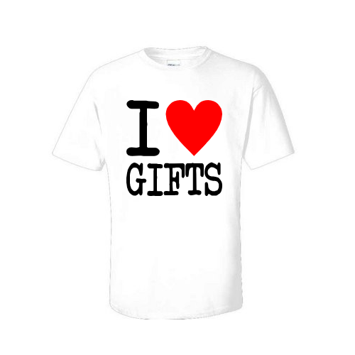 i love gifts christmas t shirt