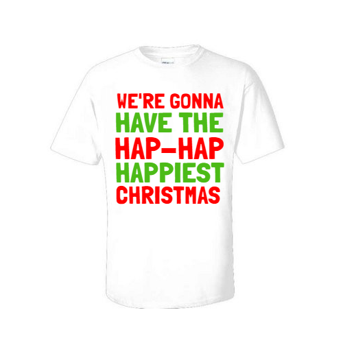 hap hap happiest christmas t shirt