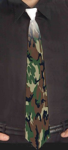 Custom Camouflage Neck Ties