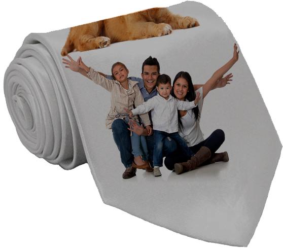Custom Design family picture neck ties |  Design Yours - Fast Shipping